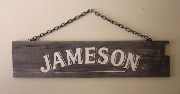 Reclaimed Wood Baby Name Sign Jameson Sign By