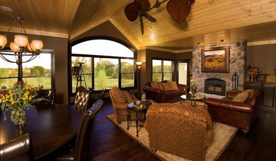 Knotty Pine Ceiling And Dark Wood Flooring Pamela S