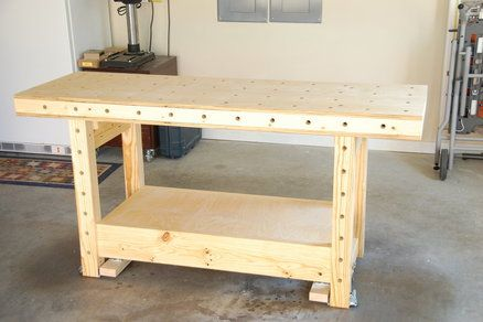 Mobile Torsion Box Workbench Easy Woodworking Ideas Workbench Woodworking Workbench