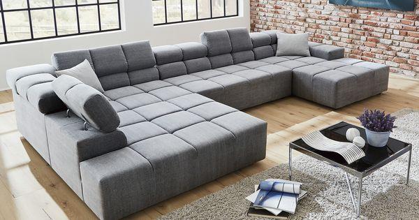 wohnlandschaft verstellbar jannicka m bel h ffner zuhause pinterest h ffner. Black Bedroom Furniture Sets. Home Design Ideas