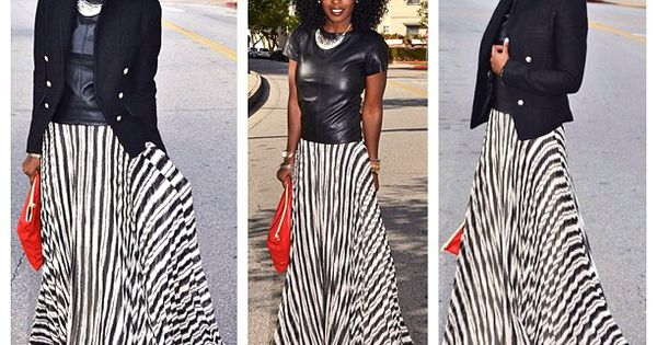 Today's Outfit Post! Layered this striped maxi dress for cold weather.
