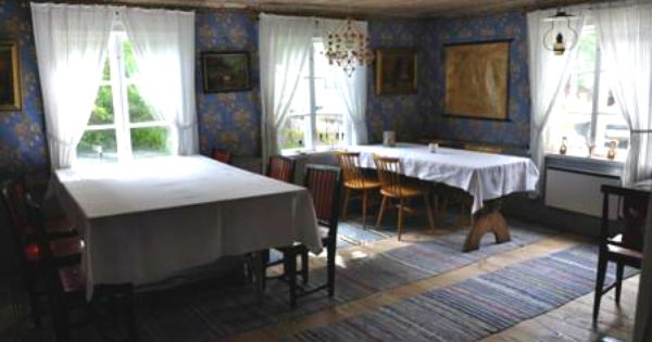 Mid 19th Century Log House Interior Sweden Traditional