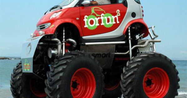 Smart car monster truck  awesome  Cool Cars  Pinterest  Smart