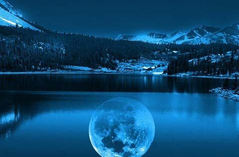 Moon reflection.
