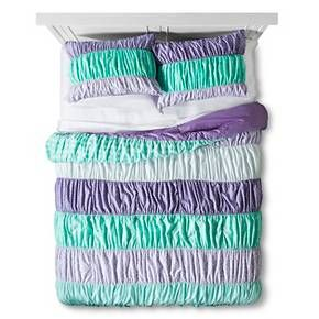 Ruched Comforter Set Full Queen 3 Pc Purpl Target