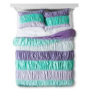 Ruched Comforter Set Full Queen 3 Pc Purpl Target