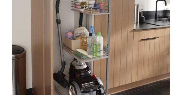 rangement pour aspirateur et produits d entretien castorama pretty house rangement astuce. Black Bedroom Furniture Sets. Home Design Ideas