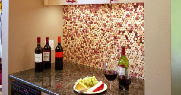 top 20 diy kitchen backsplash ideas cork wine and cork wall