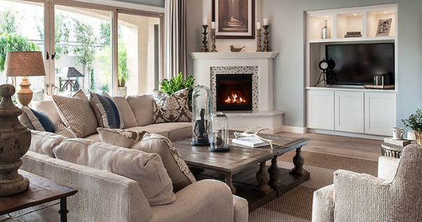 Furniture Arrangement With Corner Fireplace Dream House Pinterest