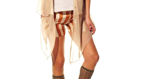 Bow and Arrow — Chic Appeal > Knee High Footless Sock > Beige ...
