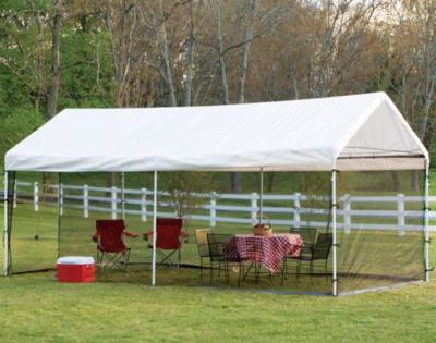 Shelterlogic Max Ap 10 X 20 2 In 1 Canopy And Screen Kit In White Screen House Screened Canopy Canopy