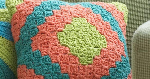 Diamond Motif Pillow: free crochet pattern | Crazy Cool ...