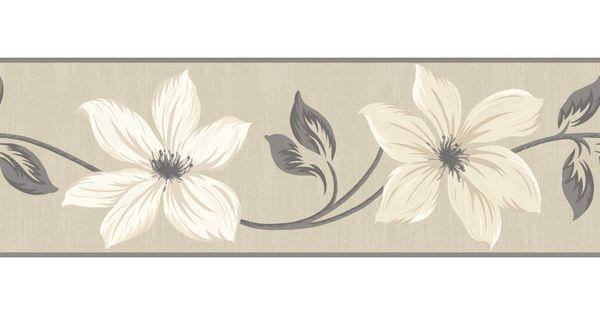 Gray And Cream Wallpaper Border