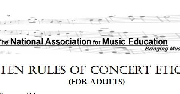 menc guidelines concert etiquette pinterest concerts file and pdf. Black Bedroom Furniture Sets. Home Design Ideas