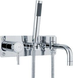 Ultra Helix Wall Mounted Bath Shower Mixer Tap With Shower Kit Chrome Bath Shower Mixer Shower Mixer Taps Bath Shower Mixer Taps