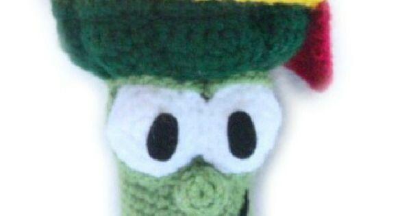 Crochet junior asparagus inspired by veggie tales free