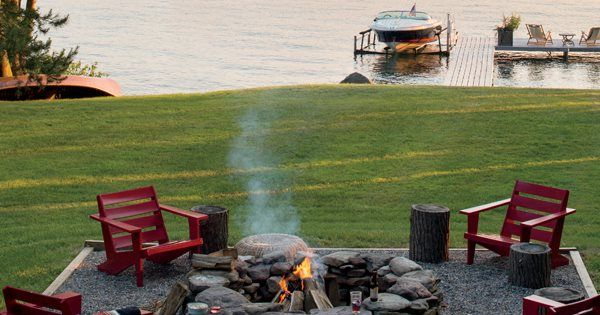 50 Outdoor Room Ideas. Everyone loves a fire pit & summer nights!