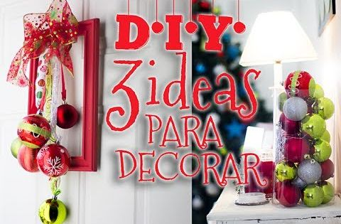 Ideas para decoracion navide a manualidades faciles y for Decoracion de navidad barata