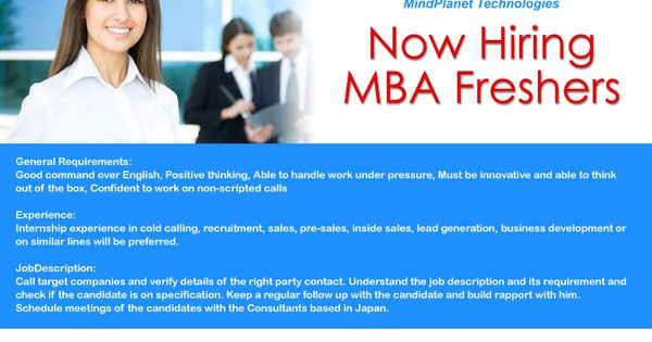 Urgent Openings For Pune MBA Freshers (Sales Marketing - general intern job description