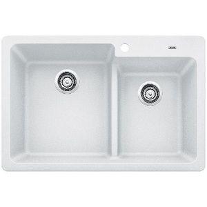 Blanco B442092 Grandis White Color Double Bowl Kitchen Sink