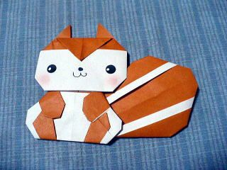リス 折り紙 簡単