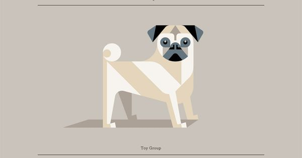 Pug: Minimalist Geometric Dog Breed Posters