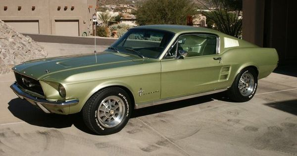 1967 Green Mustang Fastback For Sale Lime Gold Green