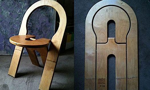 Wood Chair Folds Flat So With Some Adjusting You