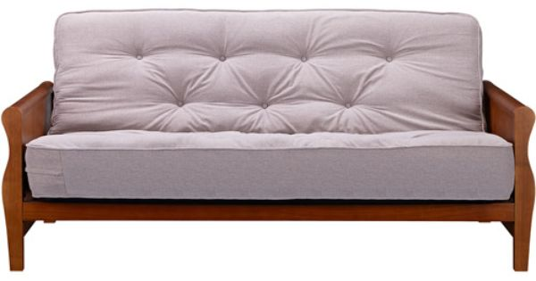 Better Homes And Gardens Wood Arm Futon With Coil Mattress Wood Futon Set Full Size Sofa