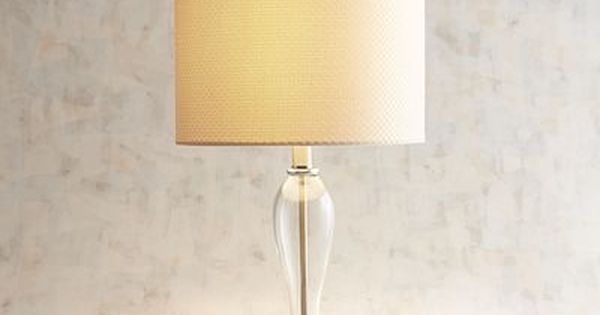 A Punch Of Texture And Artistic Glass Lights Up Our Lamp Well That And The Light Bulb With Its Clean And Simple Silhouette Lamp Glass Table Lamp Table Lamp