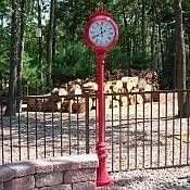 Freestanding Outdoor Clocks And