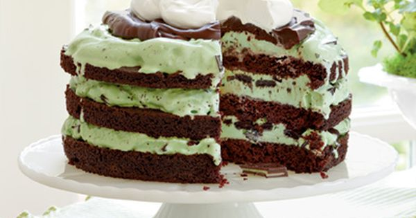 Recipe: Mint Chocolate Chip Ice-Cream Cake | SouthernLiving.com | Chocolate