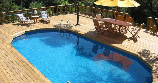 Large Wooden Decking Bexar County Ground Pools Above Ground Pool And Pools