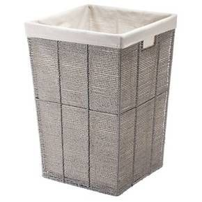 Square Twisted Paper Rope Laundry Hamper Gray Threshold