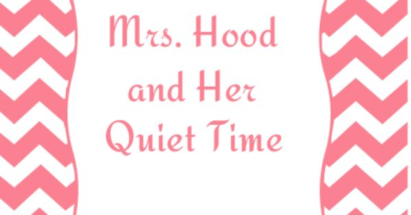 Womens Ministry Skit - Little Mrs. Hood and Her Quiet Time ...
