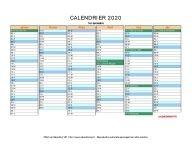 Calendrier Scolaire 20202019 A Imprimer.Calendrier 2020 A Imprimer Gratuit En Pdf Et Excel