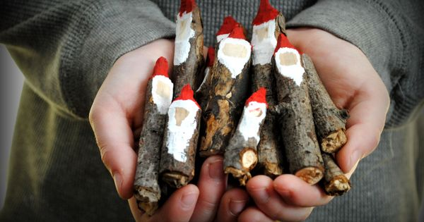 Natural Christmas Craft Ideas - stick gnomes