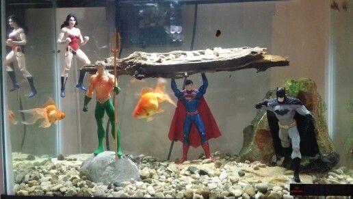 Comic Book Superhero Fish Tank Superhero Music Room