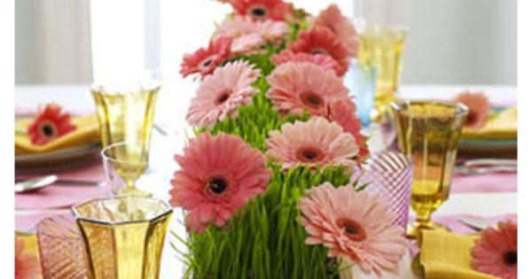 gerber daisy centerpiece