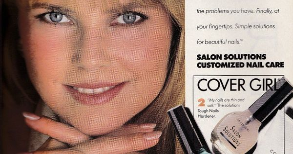 Christie Brinkley Cover Girl Nail Care Ad from Cosmo ...
