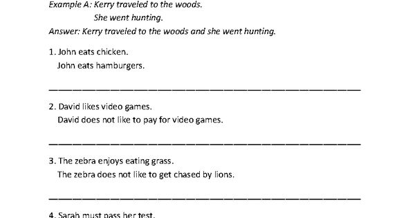 Combining with Compound Sentences Worksheet Part 1 – Combining Sentences Worksheets