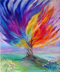 Resultado De Imagen Para Impresionismo Facil Pintura Del Arbol De La Vida Expresionismo Pintura Pintura De Arte Abstracto