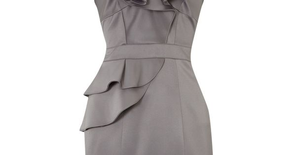 I LOVE THIS DRESS!!! Grey Ruffled Halter Top Bridesmaids Dress