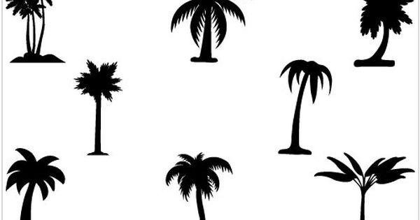 Palm Tree Clip Art Pack Tree Silhouette Palm Tree Silhouette Palm Tree Vector