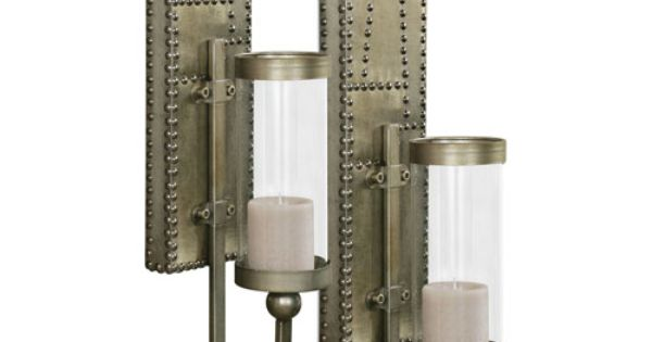 Rashane Lightly Stained Silver-Champagne Wall Sconce ...
