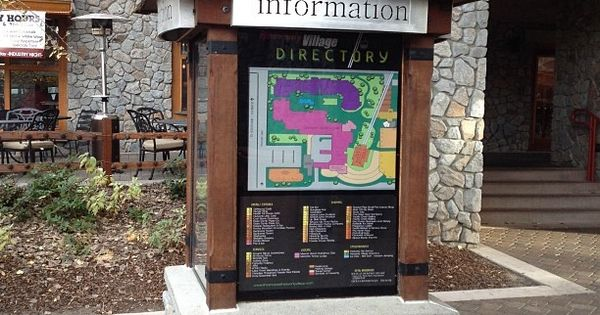 information kiosk explore tahoe visitor center pinterest kiosk signage and wayfinding. Black Bedroom Furniture Sets. Home Design Ideas