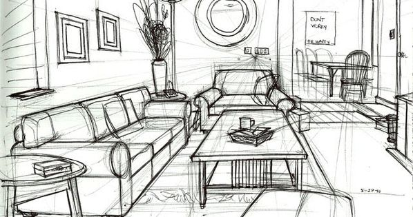 One Point Perspective Drawing Living Room   Google Search | Interior Items  | Pinterest | Perspective Drawing, Perspective And Drawings