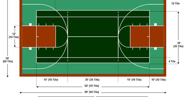 50 x 80 multi game court summer plans pinterest for Basketball court plan