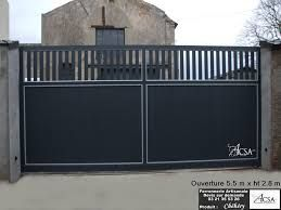 Image Result For Portail Coulissant Contemporain En Fer With Images Gate Design Architecture Garage Doors