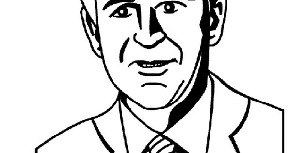 US President George W Bush Coloring Page